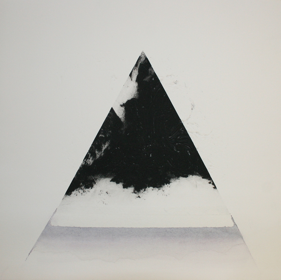 Amy-Jane Blackhall 'Fountain', Carborundum with hand colouring and collage