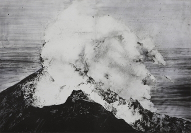 Emma Stibbon RA 'Stromboli', Intaglio, 98.5 x 145cm