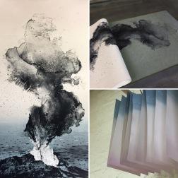 Editioning Emma Stibbon RA 'Stromboli Smoke' at INK on PAPER PRESS